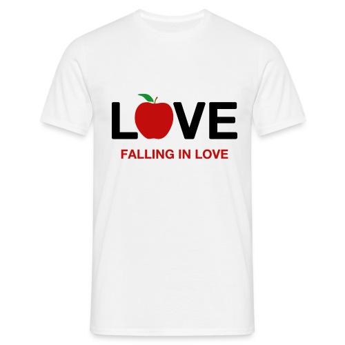 Falling in Love - Black - Men's T-Shirt