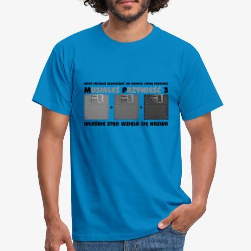 piosenka na dyskietkach - Koszulka męska