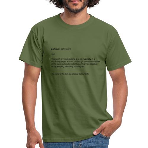 parkour dictionay - Herre-T-shirt