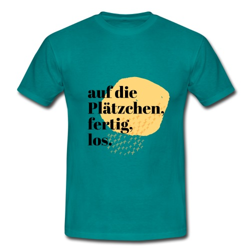 Auf die Plätzchen, fertig, los. Aquarell - Männer T-Shirt