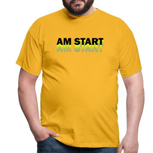 am Start - gelb schwarz faded - Männer T-Shirt