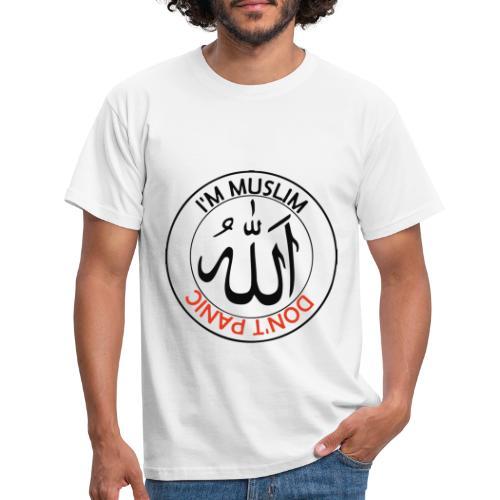 IM MUSLIM DONT PANIC - Männer T-Shirt