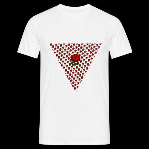 Dreieck Rose - Männer T-Shirt