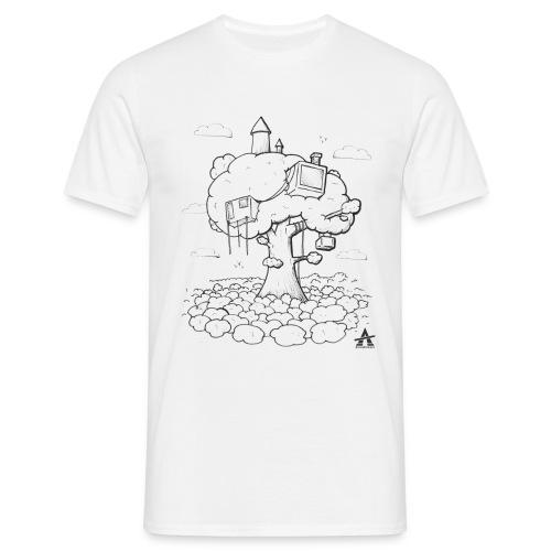 Cabane dans un arbre Sketch Line - T-shirt Homme