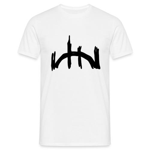 logo negro recortado sin letras - Männer T-Shirt