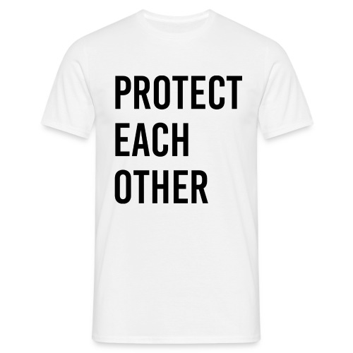 protect each other - Corona Mask - Männer T-Shirt