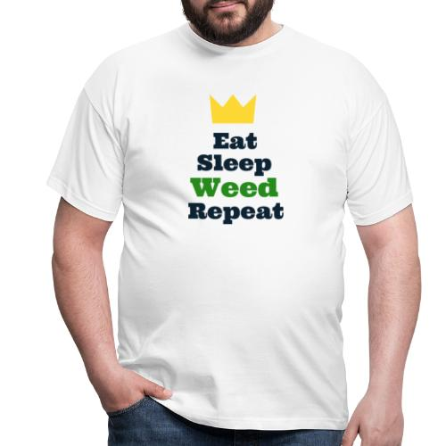 Eat Sleep Weed Repeat Tees by SeSQoOo - Men's T-Shirt