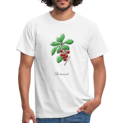 Disegno ramo di ciliegie - Maglietta da uomo