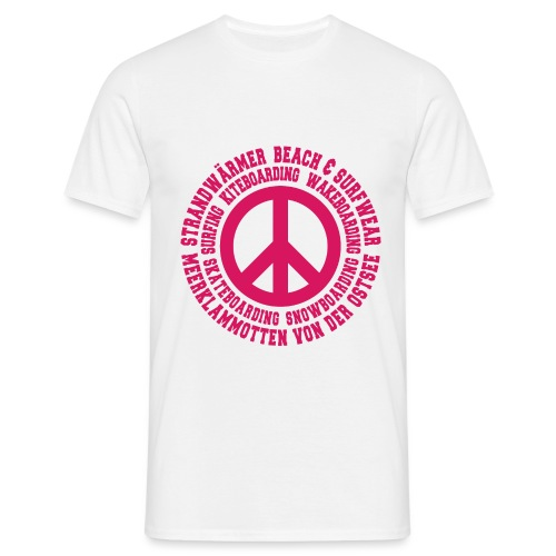 StrandWärmer_Kreis_Peace_pink - Männer T-Shirt