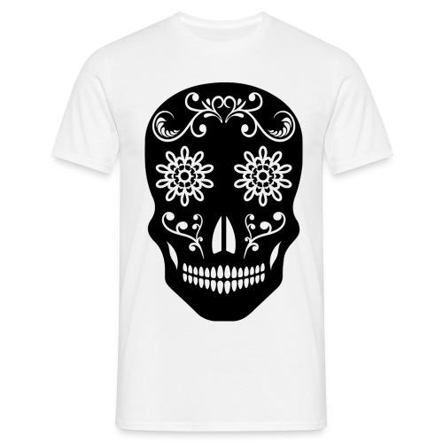 SKULLKingskulllogoBlkWhite png - Men's T-Shirt