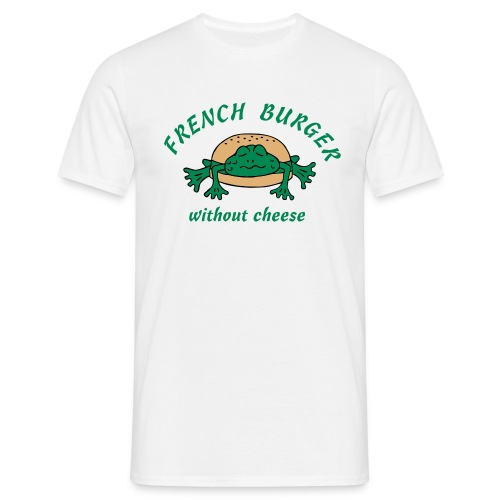 Froschburger French Burger Fastfood Frog ohne Käse - Männer T-Shirt