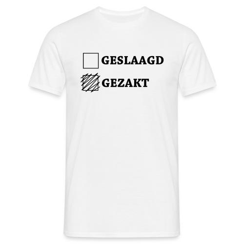 Gezakt aangekruist - Mannen T-shirt