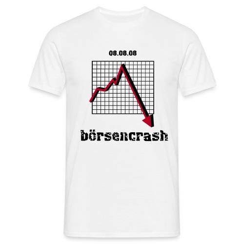 boersencrash front white - Männer T-Shirt