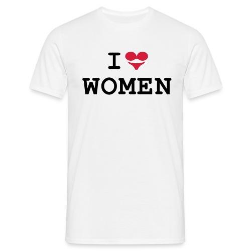 I love women (BH + Slip = Herz) - Männer T-Shirt