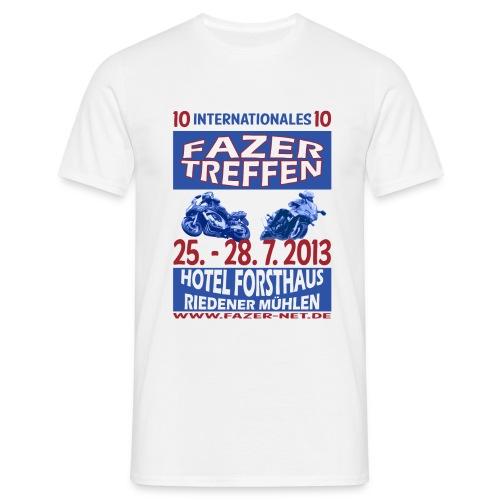 ift10logo blau korr - Männer T-Shirt