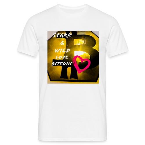 I love bitcoin - Männer T-Shirt