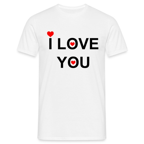 iloveyou - Mannen T-shirt