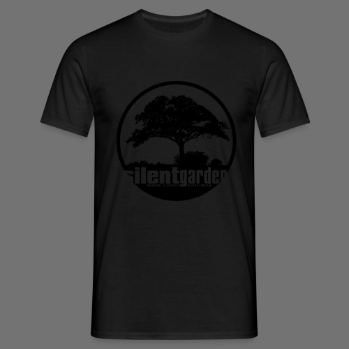 hiljainen puutarha (musta) - Miesten t-paita