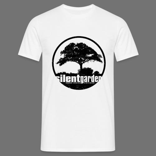 hiljainen puutarha (black oldstyle) - Miesten t-paita