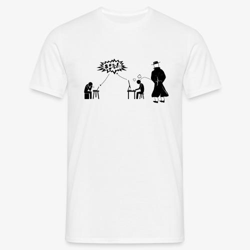 Pissing Man against hate postings - Männer T-Shirt