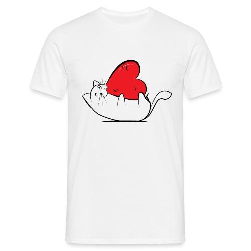 Cat Love - Mannen T-shirt