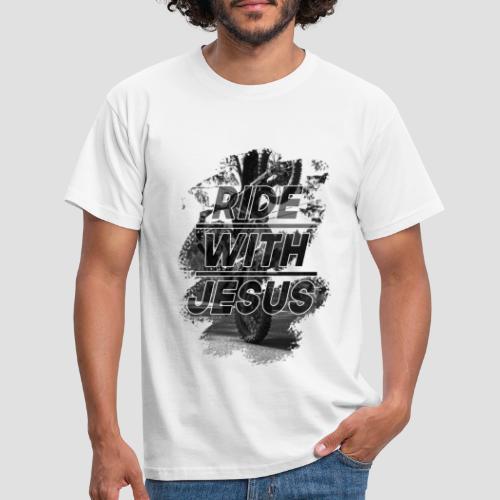 Ride with jesus shine through - T-shirt herr