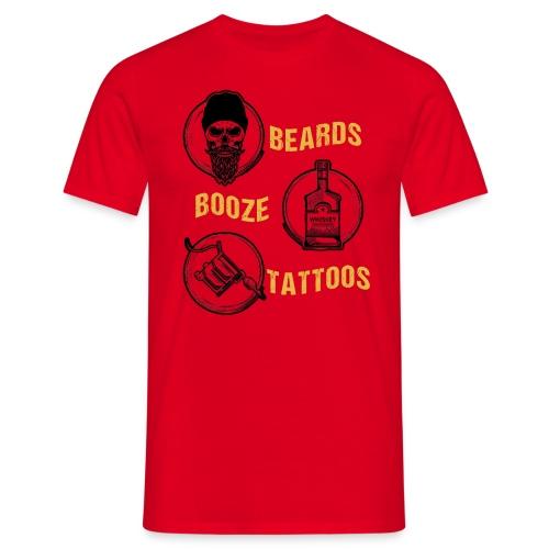 Beards Booze Tattoos Fathers Day Gift - Männer T-Shirt