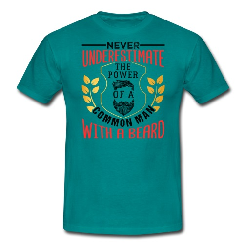 The Power Of A Common Man With A Beard Funny Gifta - Männer T-Shirt