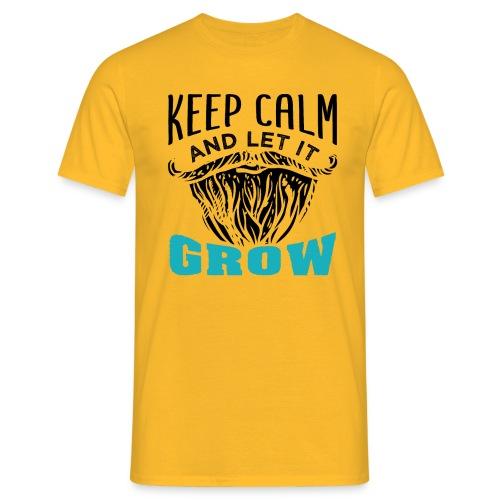 Beard Keep Calm And Let It Grow - Männer T-Shirt