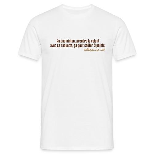badminton - T-shirt Homme