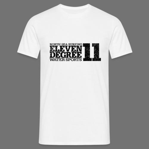 jedenaście stopni czarny (oldstyle) - Koszulka męska