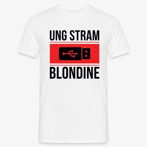 Ung Stram Blondine - Sort - Herre-T-shirt