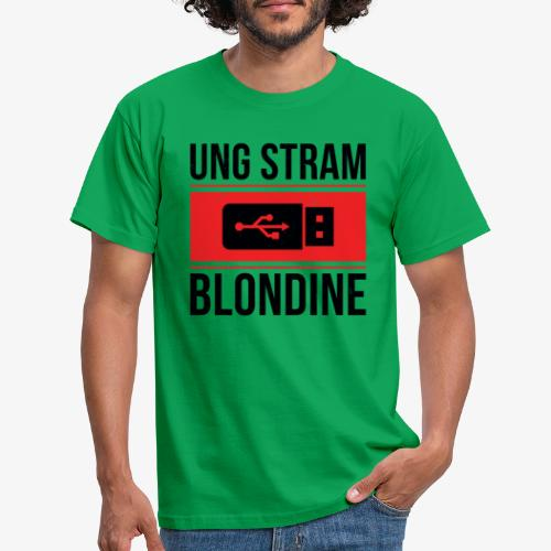 Ung Stram Blondine - Sort - Herre-T-shirt