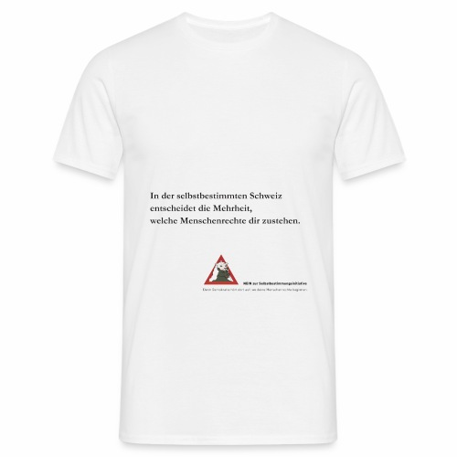 nein zur selbstbestimmungsinitiative 5 - Männer T-Shirt