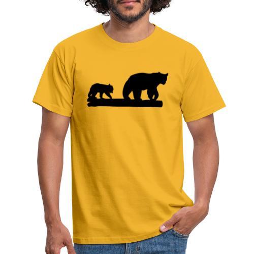 Bären Bär Grizzly Wildnis Natur Raubtier - Männer T-Shirt