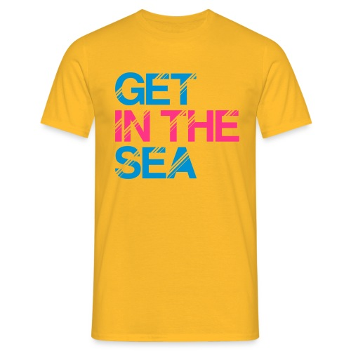 get in the sea 01 - Men's T-Shirt