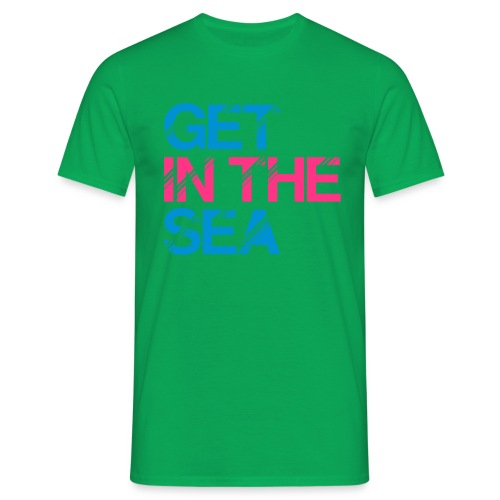 get in the sea 01 - Men's T-Shirt
