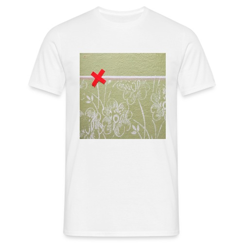 Wand mit Pflaster - Männer T-Shirt