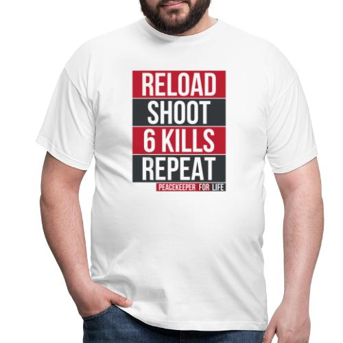 Apex Legends - Peacekeeper reload shoot - Fanart - T-shirt Homme