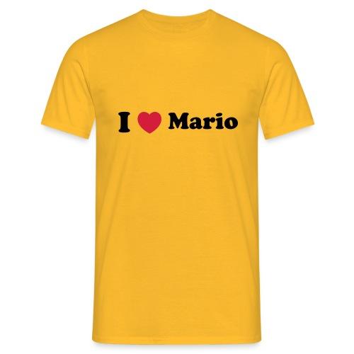I love mario - Men's T-Shirt
