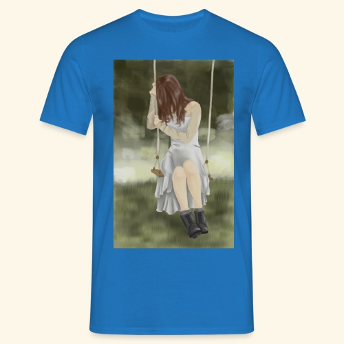 Sad Girl on Swing - Men's T-Shirt