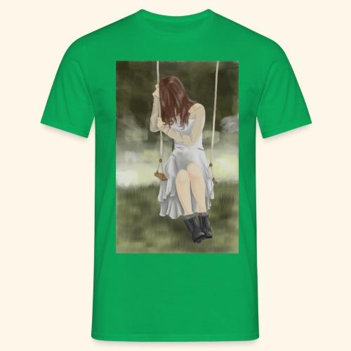 Sad Girl on Swing - Men's T-Shirt