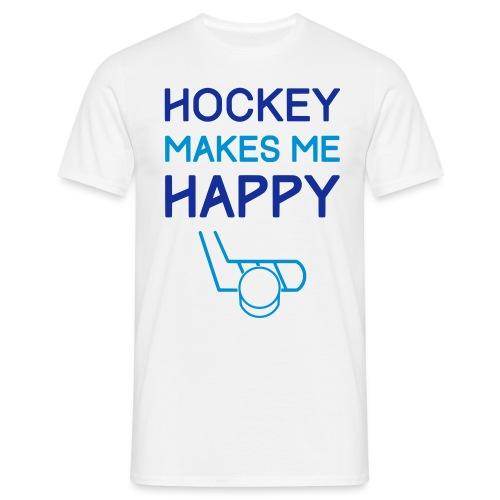 Hockey Makes Me Happy - Men's T-Shirt