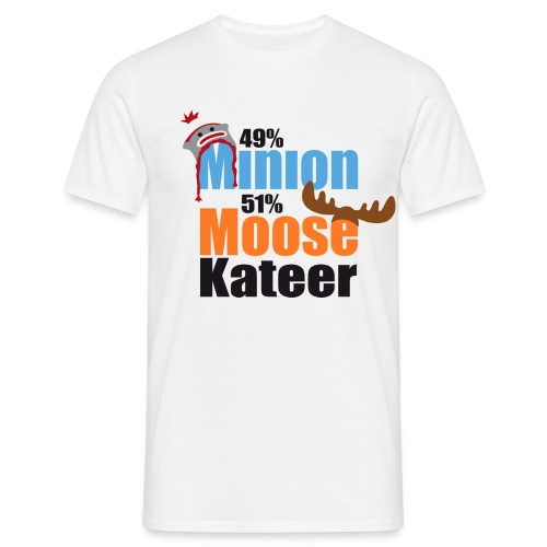 49% Minion 51% MooseKateer - Men's T-Shirt