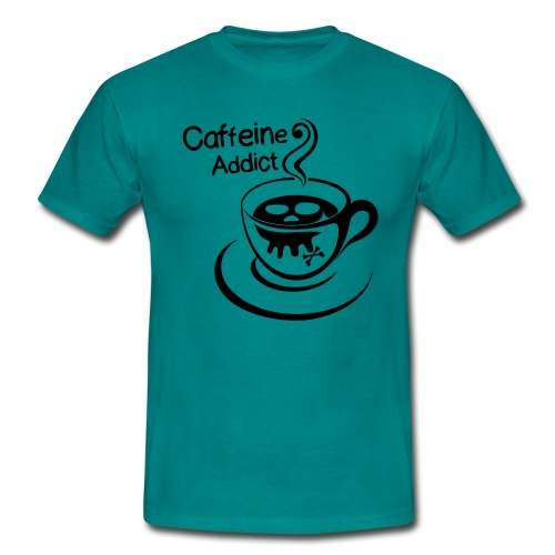 Caffeine Addict - Mannen T-shirt