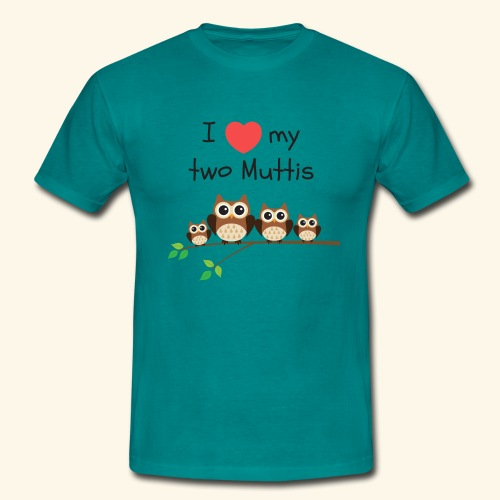 I love my two Muttis - T-shirt Homme