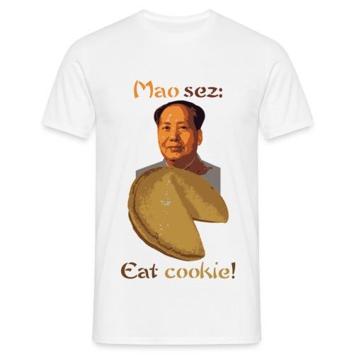 mao sez eat cookie - Koszulka męska