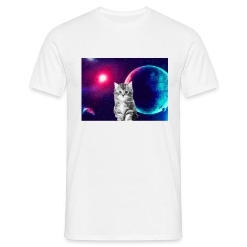 Cute cat in space - Miesten t-paita