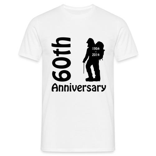 60th front mountianeer - Men's T-Shirt