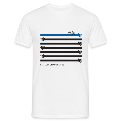 BCL Black Hands One Blue - Men's T-Shirt
